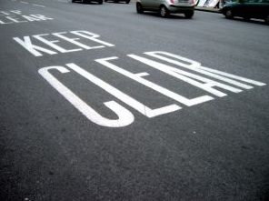 Keep clear road sign