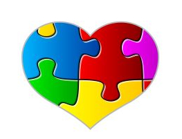 Coloured jigsaw puzzle