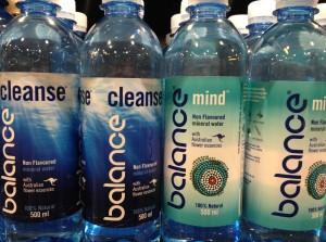 """Bottles of """"Balance""""water"""